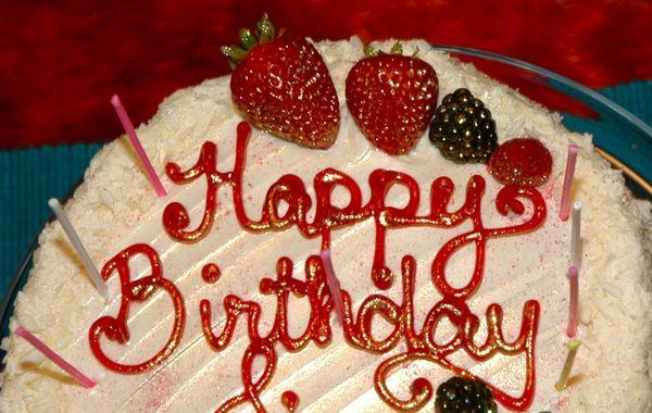 Calabria Bakery Birthday Cake
